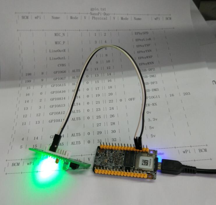 《NanoPi Duo 安装wiringPi库 控制gpio》
