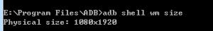 《安卓系统,使用adb修改屏幕分辨率,DPI》